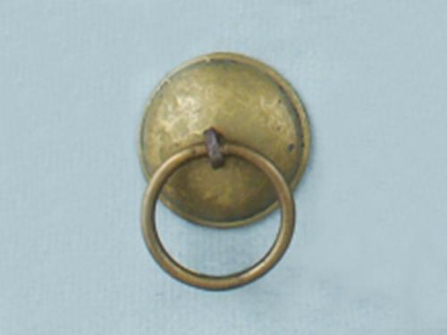 Brass Domed Ring Pull